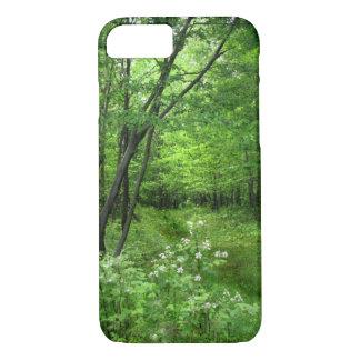 Grüner Baum-Holz-Waldweg iPhone 7 Kasten iPhone 8/7 Hülle