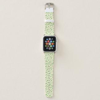 Grüner Baum-Muster-Aquarell-Baum-Entwurfs-Frühling Apple Watch Armband