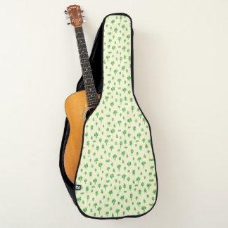 Grüner Baum-Muster-Aquarell-Baum-Entwurfs-Frühling Gitarrentasche