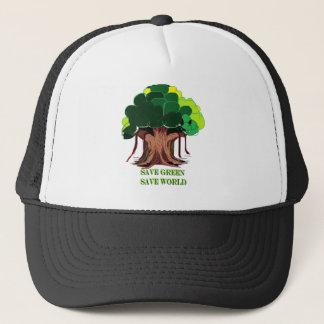 Grüner Baum Truckerkappe