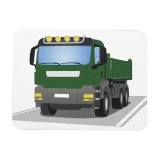 grüner Baustellen LKW Magnet