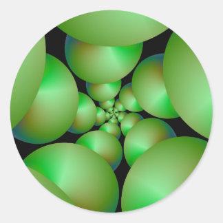 Grüner Bereich-Spiralen-Aufkleber Runder Aufkleber