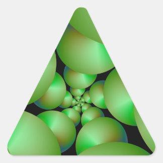 Grüner Bereich-Spiralen-Dreieck-Aufkleber Dreieckiger Aufkleber