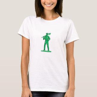 Grüner Bergmann, der Schaufel Retro hält T-Shirt