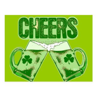 Grüner Bier-Beifall Postkarte