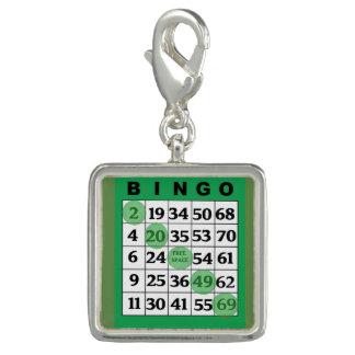 Grüner BINGO Karten-Glücksbringer Charm