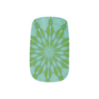 Grüner Blasen-Zen Minx Nagelkunst