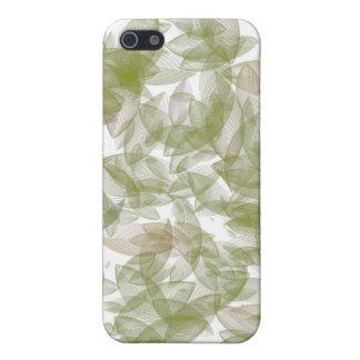 Grüner Blatt-Entwurf und Muster iPhone 5 Schutzhüllen