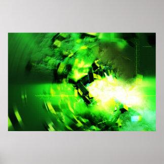 Grüner Blitz Poster