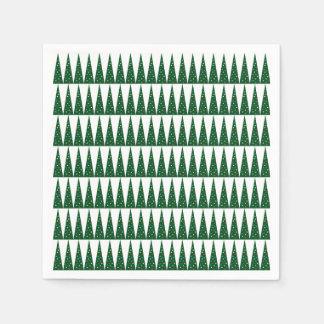 Grüner bunter Muster-Entwurf Weihnachtsbaum-| Servietten