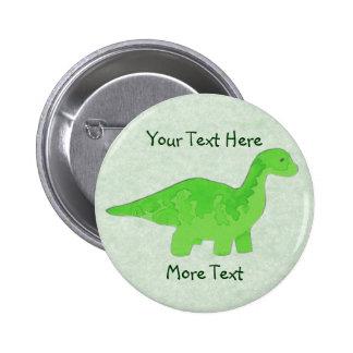 Grüner Dino-Knopf Runder Button 5,7 Cm