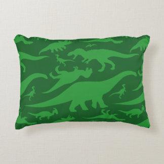 Grüner Dinosaurier-Muster Deko Kissen