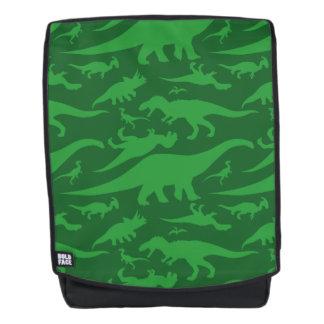 Grüner Dinosaurier-Muster Rucksack