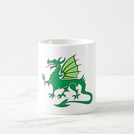 grüner Drache green dragon Kaffeetasse