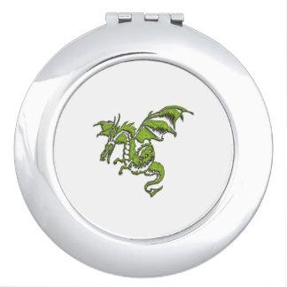 Grüner Drache Taschenspiegel
