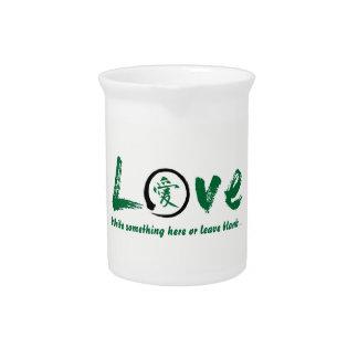 Grüner enso Zenkreis, japanisches Symbol für Liebe Krug