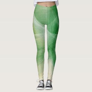 Grüner Farben-Spritzer Leggings