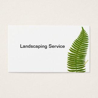 Grüner Farn, der Dienstleistungsunternehmen-Karte Visitenkarte