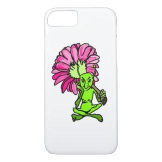 Grüner Feen-und Blumen-Telefon-Kasten iPhone 8/7 Hülle