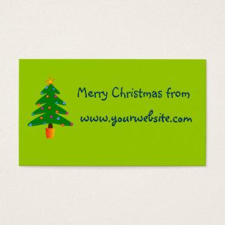 Grüner festlicher Weihnachtsbaum Visitenkarte