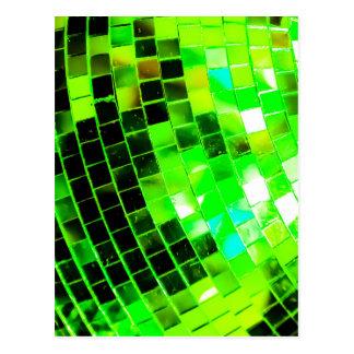 Grüner flippiger Disco-Ball Postkarte