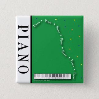 Grüner Flügels-Knopf Quadratischer Button 5,1 Cm
