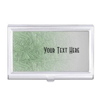 Grüner Folien-Entwurf personalisiert Visitenkarten Etui
