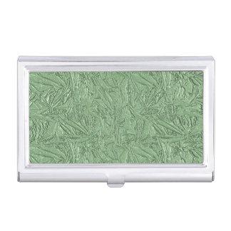 Grüner Folien-Entwurf Visitenkarten Etui