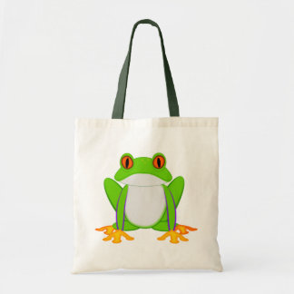 Grüner Frosch Budget Stoffbeutel