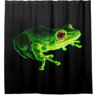 Grüner Frosch Duschvorhang