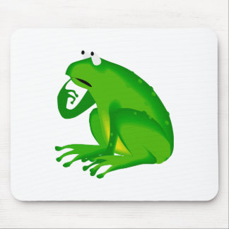 Grüner Frosch Mousepads