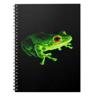 Grüner Frosch Notizblock