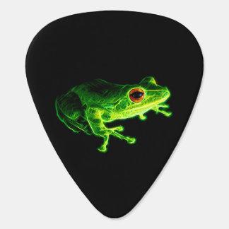 Grüner Frosch Plektron