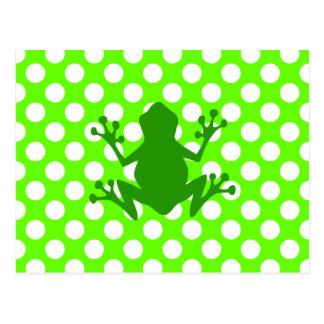 Grüner Frosch Postkarte