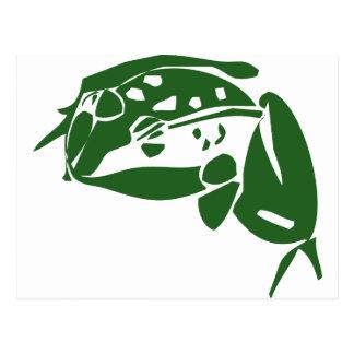 Grüner Frosch Postkarten