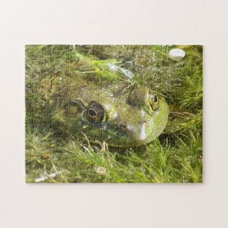 Grüner Frosch-Puzzlespiel Puzzle