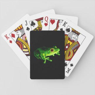 Grüner Frosch Spielkarten