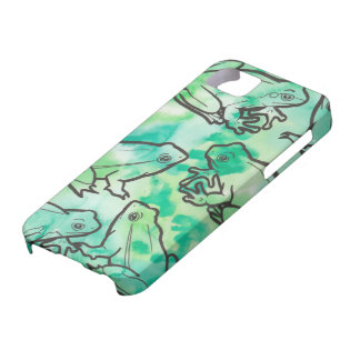 Grüner Frosch-Telefon-Kasten iPhone 5 Hülle