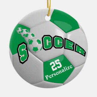 Grüner Fußball | personifizieren Keramik Ornament