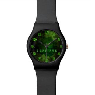 Grüner Galaxie-Kosmos Armbanduhr
