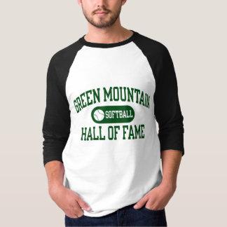 Grüner GebirgsSoftball Hall des Ruhm-Shirts T-Shirt