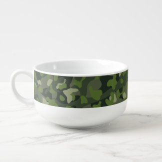 Grüner Gebirgsunterbrechungstarnung Große Suppentasse