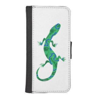 Grüner Gecko iPhone SE/5/5s Geldbeutel Hülle