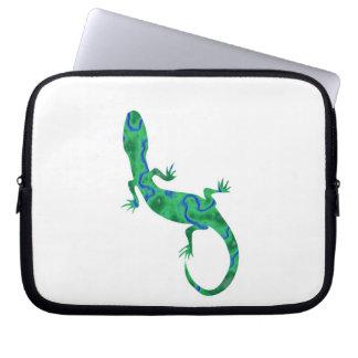 Grüner Gecko Laptop Sleeve
