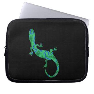 Grüner Gecko Laptopschutzhülle