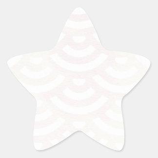 Grüner gelber Meerjungfrau-Pastell Stern-Aufkleber