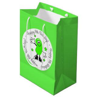 Grüner Gelee-Bohnen-personalisierter Geburtstag Mittlere Geschenktüte