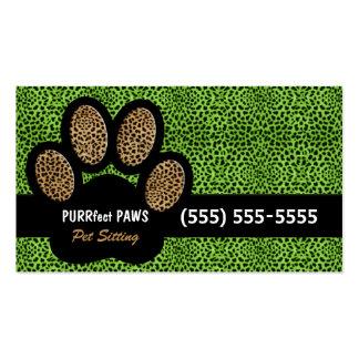 Grüner Gepard-Druck-kundenspezifisches Visitenkarten