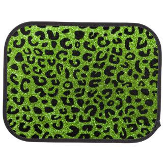 Grüner Gepardneondruck Autofußmatte