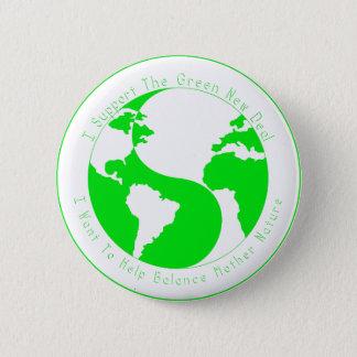 Grüner Geschäfts-Stützknopf Runder Button 5,1 Cm